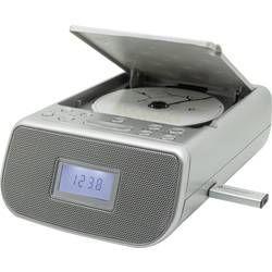 FM radiobudík SoundMaster URD860SI, AUX, CD, FM, USB, stříbrná