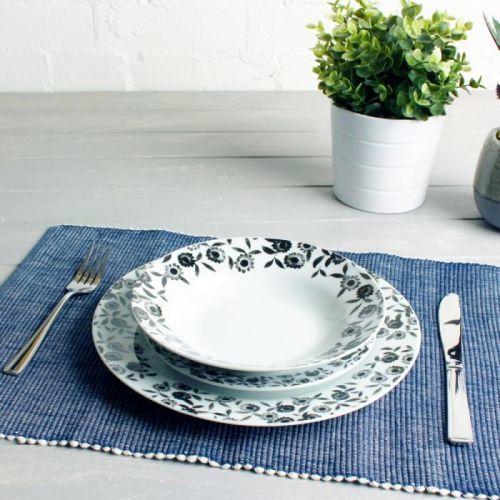 12dílná porcelánová sada nádobí Sabichi Bramble Duro