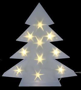 Vánoční dekorace stromek PVC, 10 LED, 45 x 8 cm - studená bílá