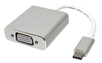 Roline Adaptér USB 3.1 USB C(M) -> VGA(F), 1920x1080@60Hz, Alu