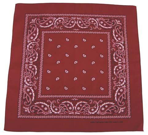 Bandana šátek - burgundy