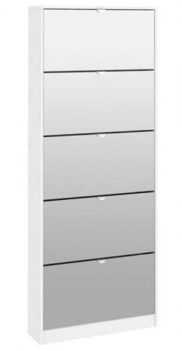 FALCO Botník Flap 052 5KL bílá/zrcadlo 5846