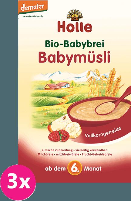 3x HOLLE Bio Babymüsli kaše, 250 g