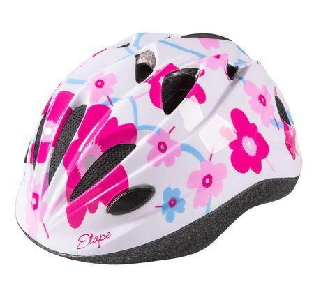 Dětská cyklistická helma Etape Pony bílo-růžová S (48-52 cm)