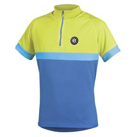 Dětský cyklistický dres Etape Bambino modro-žlutý S