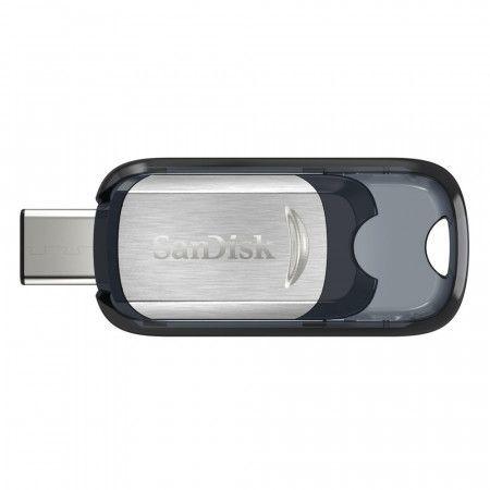 Flash USB Sandisk Ultra 64GB USB-C - černý/stříbrný, SDCZ450-064G-G46