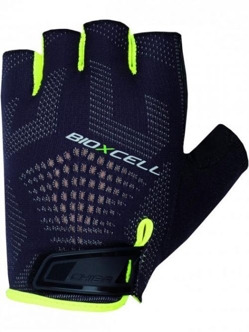 Cyklo rukavice Chiba BIOXCELL SUPER FLY, černo-reflexní žluté 2XL