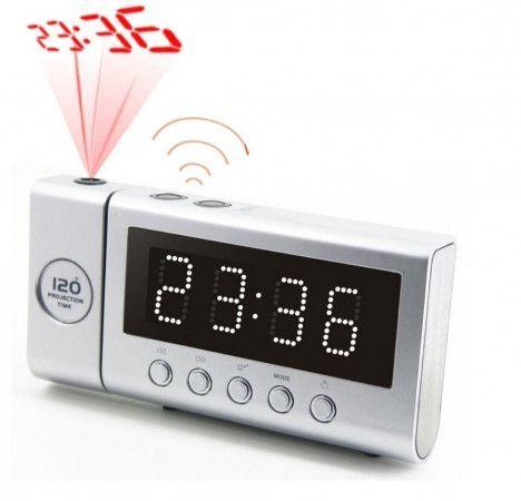 Soundmaster FUR6100SI radiobudík / stmívatelný displej/ s projekcí/ rádiem řízený čas / stříbrný