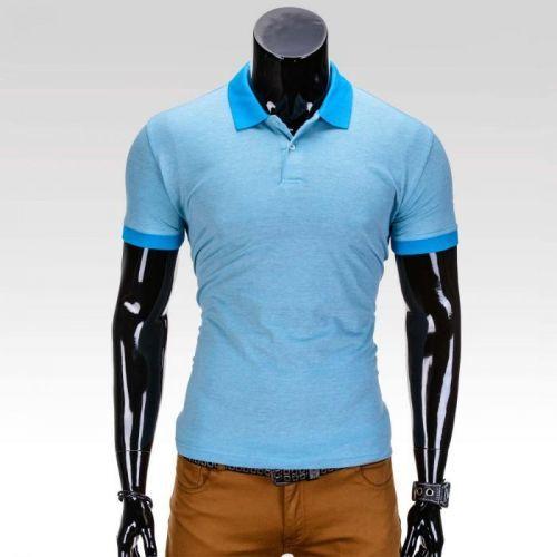 Moderné pánske polo tričko Vernon světle modrá L