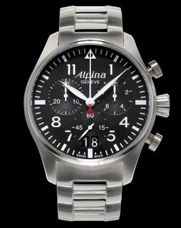 Alpina Startimer Pilot Big Date Chronograph AL-372B4S6B + 5 let záruka, pojištění hodinek ZDARMA Miss Sixty