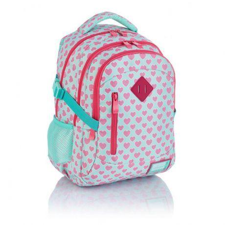 ASTRA - Studentský batoh Head 3 HD-241,růžové srdíčka Miss Sixty