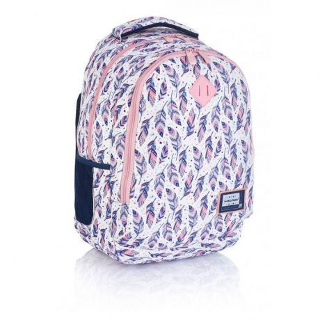 ASTRA - Studentský batoh Head 3 HD-328, růžové pírka Miss Sixty