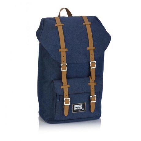 ASTRA - Studentský batoh Head 3 HD-277, černý s hnědými přezkami Miss Sixty