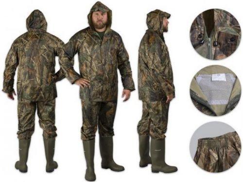 >Nepromokavý rybářský komplet Mil-tec Camouflage Velikost: velikost L