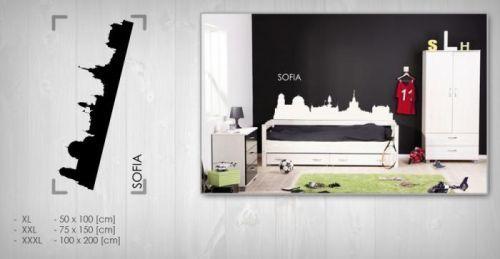 Nálepka na zeď Sleva 20% SOFIE 75x150 cm NAME044 / 24h - černá barva