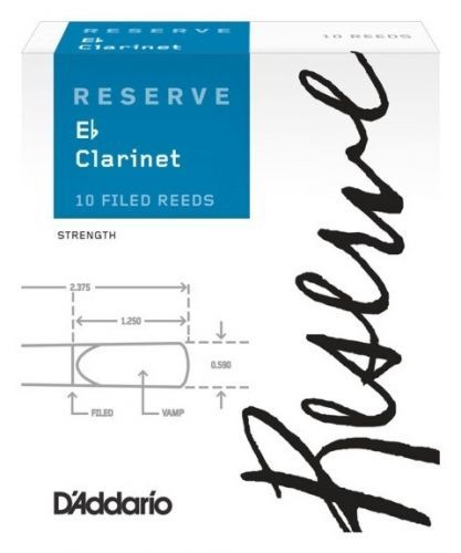 Rico DBR1030 Reserve Eb Clarinet Reed 3.0 - 10 Box