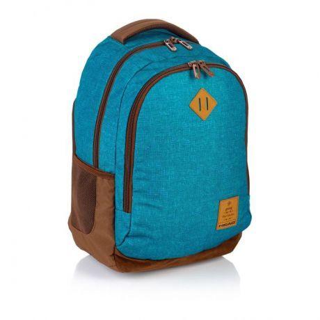 ASTRA - Studentský batoh Head HD-56 modrohnědý Miss Sixty
