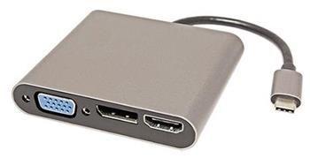 Roline Adaptér USB C(M) -> DP, HDMI (4K2K@60Hz), VGA, 100Mb LAN