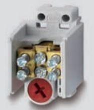 Werit rozbočovací/stoupací svorkovnice na DIN lištu 114-12517000-00 2x25 a 2x16 mm2 400V šedá