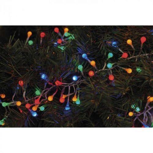 288 LED řetěz – ježek, 2,4m, multicolor, časovač