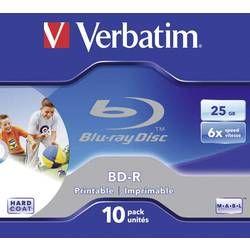 Blu-ray BD-R 25 GB Verbatim Jewelcase, 43713, s potiskem, 10 ks