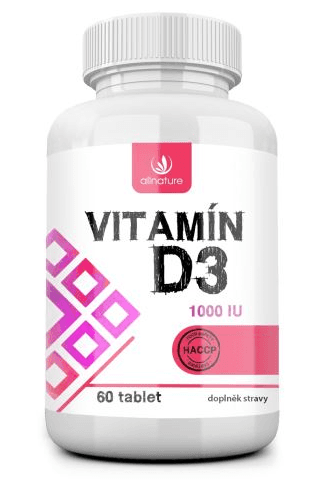 Allnature Vitamín D3 1000IU 60 tablet