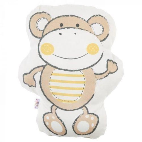 Hnědý dětský polštářek s příměsí bavlny Apolena Pillow Toy Beatto, 31 x 36 cm