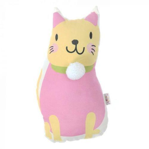 Dětský polštářek s příměsí bavlny Apolena Pillow Toy Kitten, 17 x 34 cm