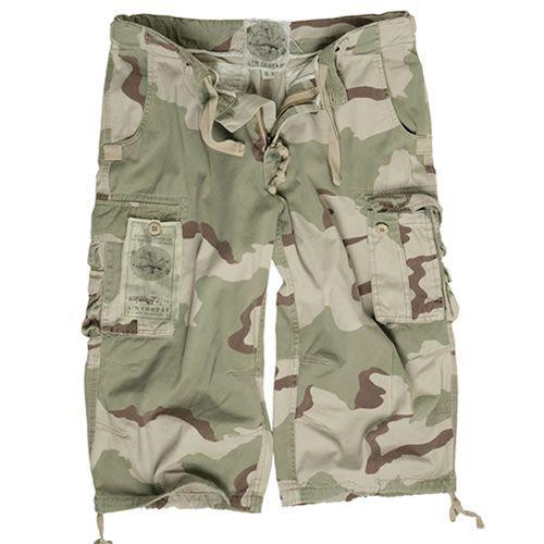 3/4 kalhoty Mil-Tec Air Combat - desert, S