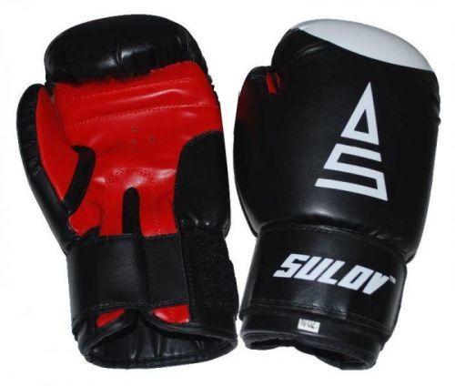 Box rukavice SULOV, DX, černo-červené Box rukavice SULOV DX 8oz., černé