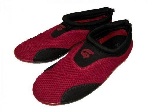 Alba Dámské neoprenové boty do vody červeno-černé