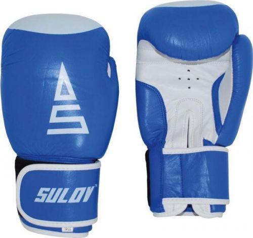 Box rukavice SULOV, kožené, modro - bílé Box rukavice SULOV kožené 12oz., modro-bílé