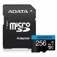 ADATA 256GB Premier MicroSDHC, R/W up to 100/25 MB/s, with Adapter