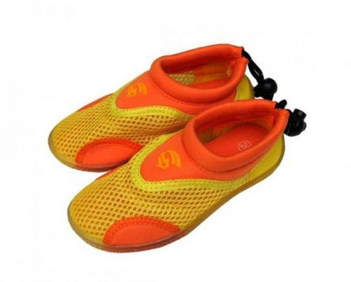 Alba Dětské neoprenové boty do vody žlutooranžové