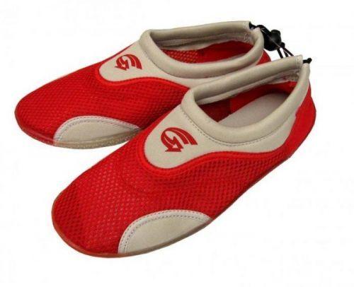 Alba Dámské neoprenové boty do vody šedočervené