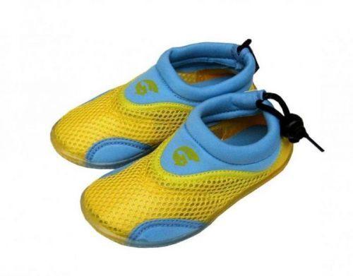 Alba Dětské neoprenové boty do vody žlutomodré