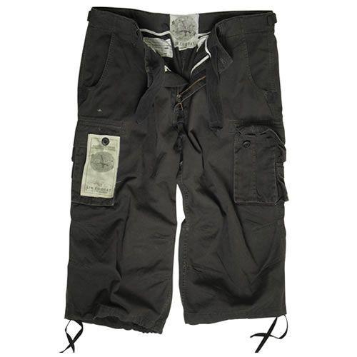 3/4 kalhoty Mil-Tec Air Combat - černé, L