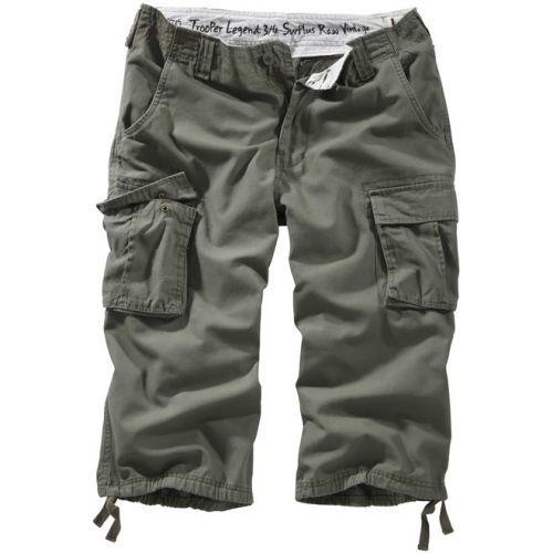 3/4 kalhoty Trooper Legend - olivové, XXL