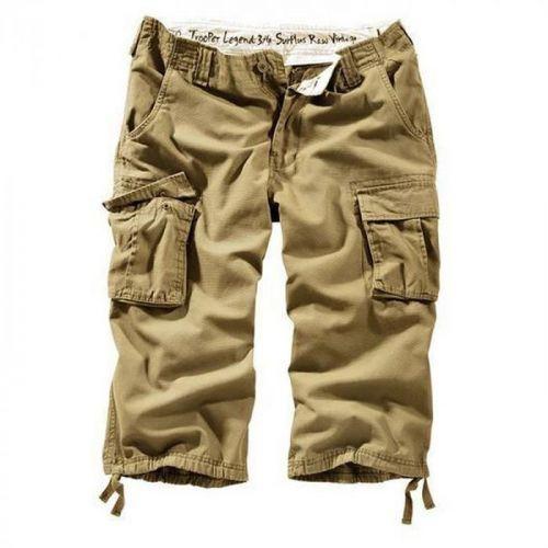 3/4 kalhoty Trooper Legend - béžové, 6XL