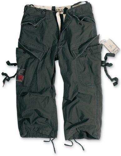 3/4 kalhoty Engineer Vintage - černé, L