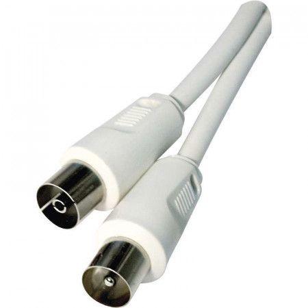 Anténní koaxiální kabel stíněný 7,5m - rovné vidlice