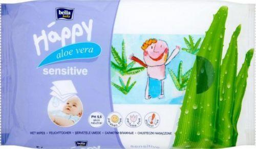 Bella Happy Vlhčené ubrousky s aloe vera - 56ks