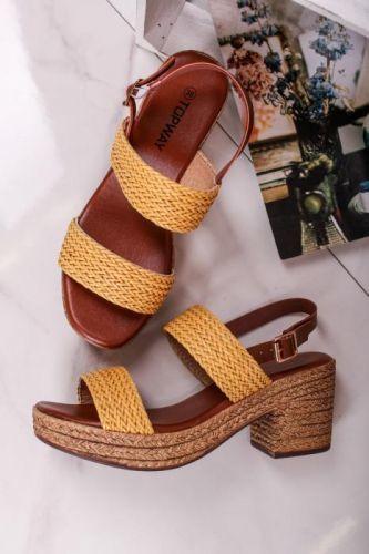 Žluté sandály Jully