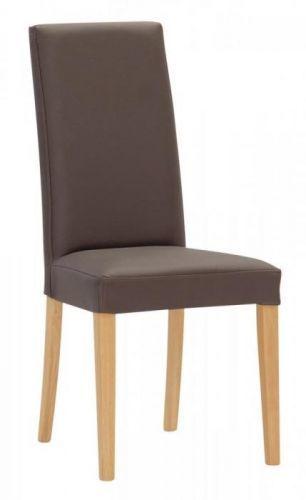 Jídelní celočalouněná židle Stima Nancy - více variant Varianta 1 - buk, koženka tortora