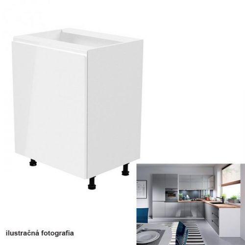 811/5000Spodní skříňka, bílá / šedá extra vysoký lesk, levá, AURORA D601F