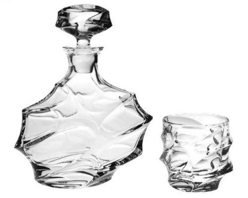 Bohemia Jihlava křišťálový whisky set Calypso 1+6