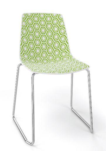 Emagra Jídelní plastová židle Alhambra - zelená