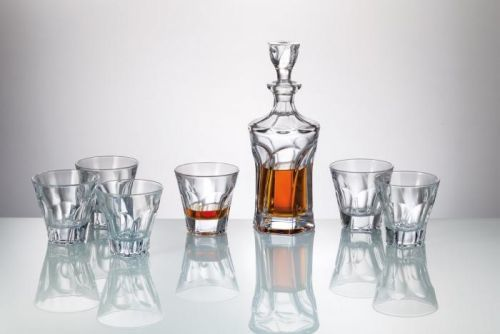 Crystalite Bohemia whisky set Apollo (1+6)