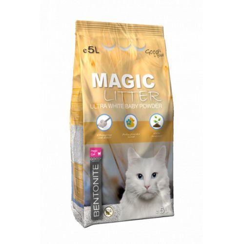 Kočkolit magic litter bentonite ultra white baby powder 10l