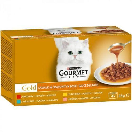 GOURMET GOLD  SAUCE DELIGHTS KOUSKY/ve štávě - 4ks/85g